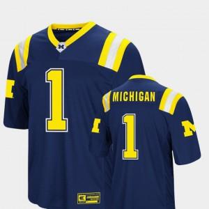 #1 Michigan Wolverines Colosseum Foos-Ball Football Mens Jersey - Navy