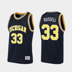 #33 Cazzie Russell Michigan Wolverines Alumni Basketball Mens Jersey - Navy
