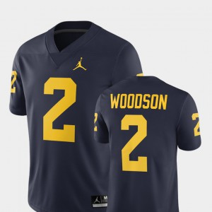 #2 Charles Woodson Michigan Wolverines Alumni Football Game Men 2018 Jersey - Navy