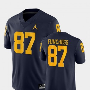 #87 Devin Funchess Michigan Wolverines Game College Football Men Jersey - Navy