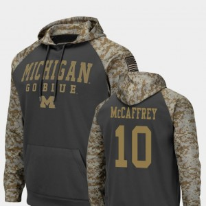 #10 Dylan McCaffrey Michigan Wolverines For Men's Colosseum Football United We Stand Hoodie - Charcoal