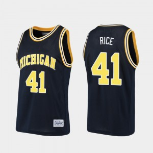 #41 Glen Rice Michigan Wolverines Men's Alumni Basketball Jersey - Navy