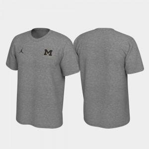 Michigan Wolverines Men's Left Chest Logo Legend T-Shirt - Heathered Gray