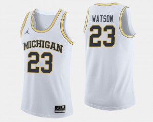 #23 Ibi Watson Michigan Wolverines College Basketball Men Jersey - White