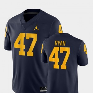 #47 Jake Ryan Michigan Wolverines For Men Game College Football Jersey - Navy