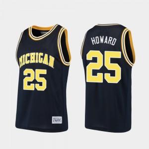 #25 Juwan Howard Michigan Wolverines Men's Alumni Basketball Jersey - Navy
