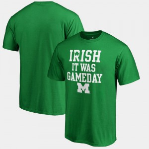 Michigan Wolverines Irish It Was Gameday St. Patrick's Day Men's T-Shirt - Kelly Green