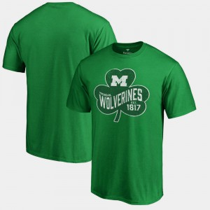 Michigan Wolverines For Men Paddy's Pride Big & Tall St. Patrick's Day T-Shirt - Kelly Green