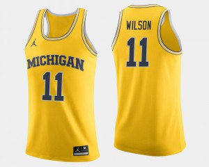 #11 Luke Wilson Michigan Wolverines College Basketball For Men's Jersey - Maize