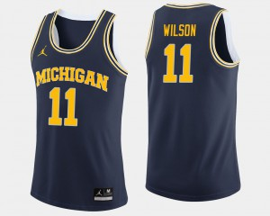 #11 Luke Wilson Michigan Wolverines College Basketball Mens Jersey - Navy