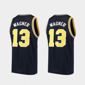 #13 Moritz Wagner Michigan Wolverines Alumni Basketball For Men Jersey - Navy