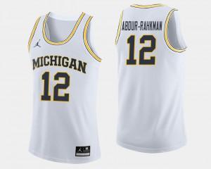#12 Muhammad-Ali Abdur-Rahkman Michigan Wolverines College Basketball For Men's Jersey - White