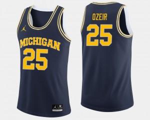 #25 Naji Ozeir Michigan Wolverines Mens College Basketball Jersey - Navy