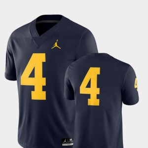 #4 Michigan Wolverines Mens College Football 2018 Game Jersey - Navy