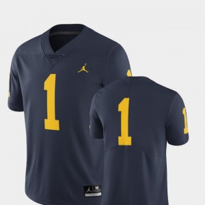 #1 Michigan Wolverines Limited College Football Men's Jersey - Navy