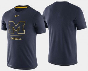 Michigan Wolverines College Baseball For Men's Dugout Performance T-Shirt - Navy