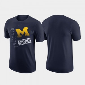 Michigan Wolverines Performance Cotton Just Do It Mens T-Shirt - Navy