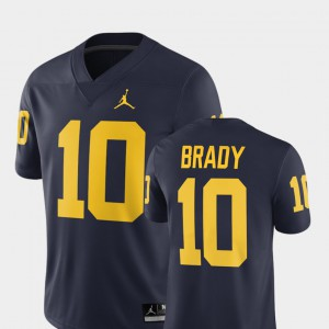 #10 Tom Brady Michigan Wolverines Men 2018 Alumni Football Game Jersey - Navy