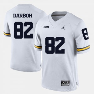 #82 Amara Darboh Michigan Wolverines For Men's College Football Jersey - White