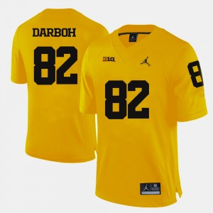 #82 Amara Darboh Michigan Wolverines Men's College Football Jersey - Yellow