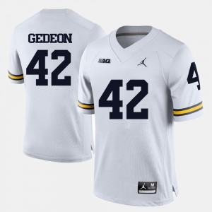 #42 Ben Gedeon Michigan Wolverines College Football Men's Jersey - White