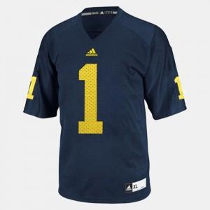 #1 Braylon Edwards Michigan Wolverines College Football Men's Jersey - Blue