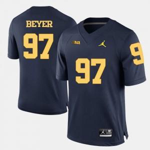 #97 Brennen Beyer Michigan Wolverines Men's College Football Jersey - Navy Blue