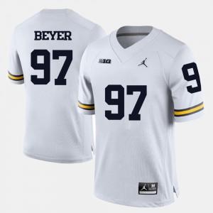 #97 Brennen Beyer Michigan Wolverines College Football Mens Jersey - White
