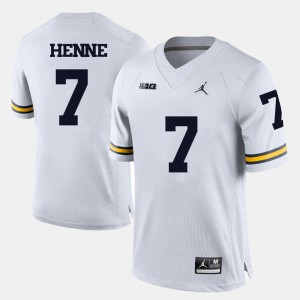 #7 Chad Henne Michigan Wolverines For Men's College Football Jersey - White