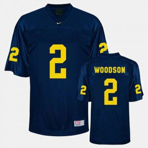 #2 Charles Woodson Michigan Wolverines College Football For Men Jersey - Blue