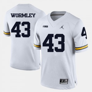 #43 Chris Wormley Michigan Wolverines College Football For Men Jersey - White
