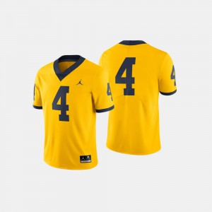 #4 Michigan Wolverines College Football Men's Jersey - Maize