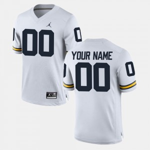 #00 Michigan Wolverines College Limited Football Men Custom Jersey - White