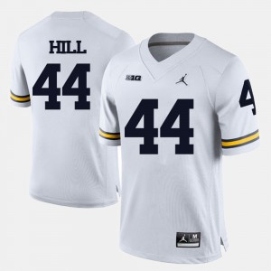 #44 Delano Hill Michigan Wolverines College Football For Men Jersey - White