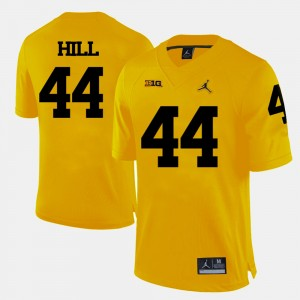 #44 Delano Hill Michigan Wolverines College Football Mens Jersey - Yellow