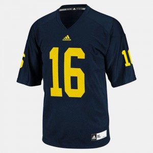 #16 Denard Robinson Michigan Wolverines College Football Men's Jersey - Blue