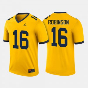 #16 Denard Robinson Michigan Wolverines College Football Men Jersey - Maize