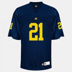 #21 desmond Howard Michigan Wolverines College Football Men Jersey - Blue