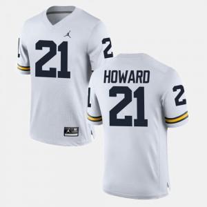 #21 desmond Howard Michigan Wolverines For Men College Football Jersey - White