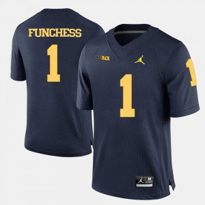 #1 Devin Funchess Michigan Wolverines College Football Men Jersey - Navy Blue