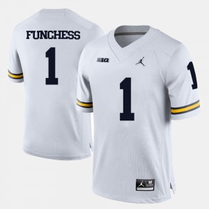 #1 Devin Funchess Michigan Wolverines College Football For Men Jersey - White