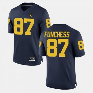 #87 Dominique Funchess Michigan Wolverines Alumni Football Game For Men's Jersey - Navy