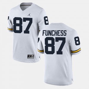 #87 Dominique Funchess Michigan Wolverines Alumni Football Game For Men's Jersey - White
