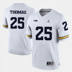 #25 Dymonte Thomas Michigan Wolverines Mens College Football Jersey - White