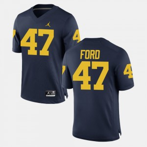 #47 Gerald Ford Michigan Wolverines Alumni Football Game Mens Jersey - Navy