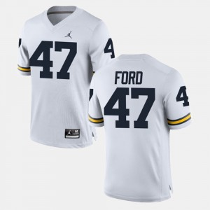 #47 Gerald Ford Michigan Wolverines For Men's Alumni Football Game Jersey - White