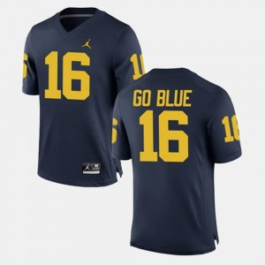 #16 GO BLUE Michigan Wolverines Mens Alumni Football Game Jersey - Navy