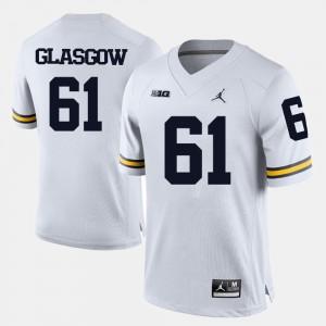 #61 Graham Glasgow Michigan Wolverines College Football For Men's Jersey - White