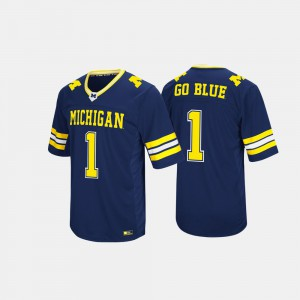 #1 Michigan Wolverines Mens Hail Mary II Jersey - Navy