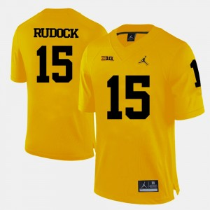 #15 Jake Rudock Michigan Wolverines College Football Mens Jersey - Yellow